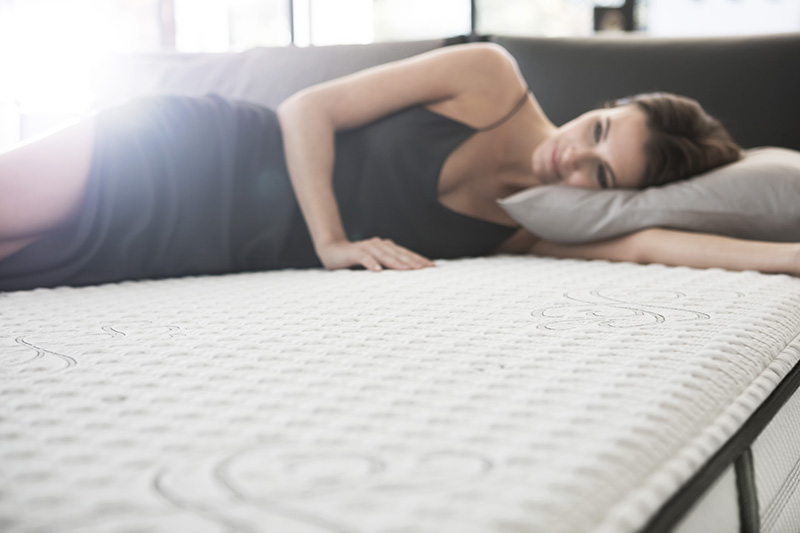 Try out Simmons mattresses before you buy